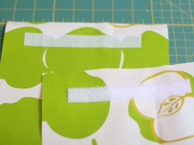 oilcloth with velcro strips attached