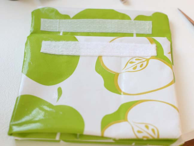 green apple oilcloth with velcro