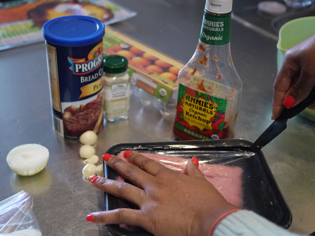 ingredients for turkey meatballs includes bread crumbs ground turkey ketchup onions and some garlic
