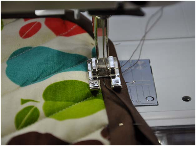 sewing the edge