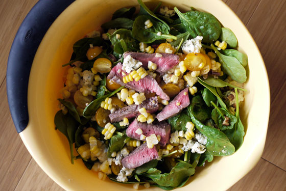 Spinach Salad with Grilled Steak Labor Day Recipes
