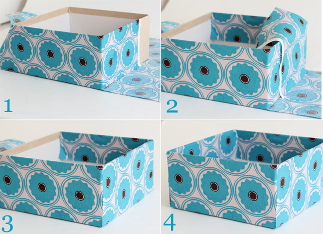 DIY Decor: Fabric Covered Storage Boxes - Steps 5 - 8