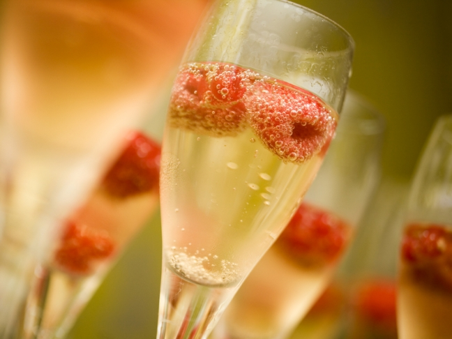 Raspberry Champagne Cocktail