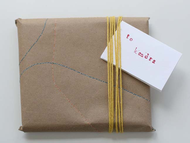 Stitiched Wrapping Paper DIY