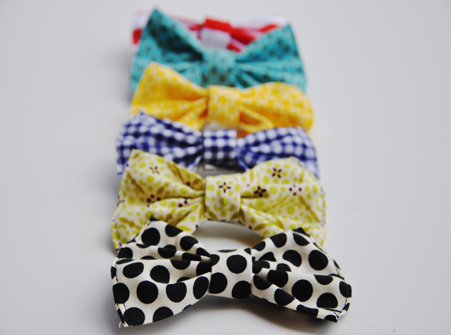 completed homemade hair bows