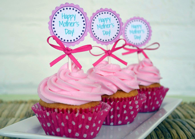 Mother's Day Cupcake Toppers - Step 8