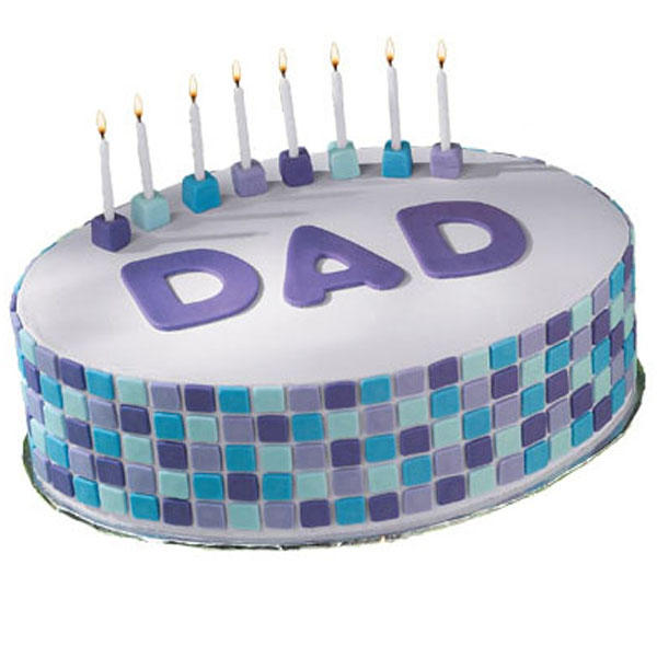 Tile Style Dad Cake - Father's Day