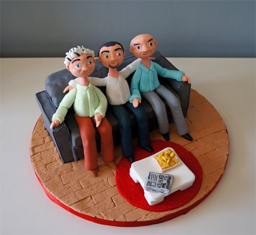 Couch Potato Pop - Father's Day Cake