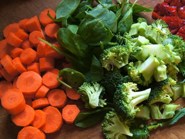 Three Quick and Easy Winter Vegetarian Soups-PREP SHOT 2