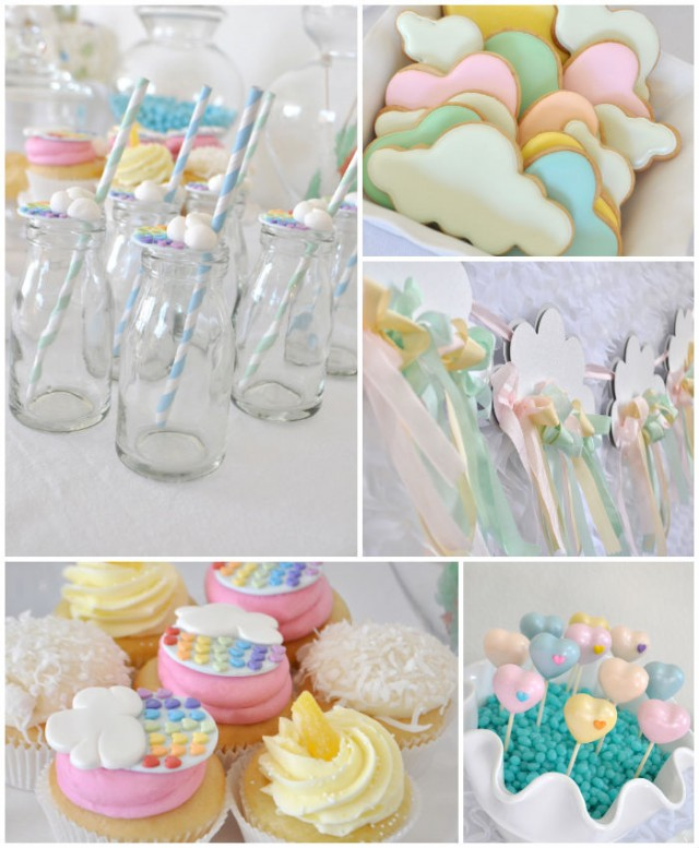 Rainbow and Cloud crafting party by Prop Shop Boutique