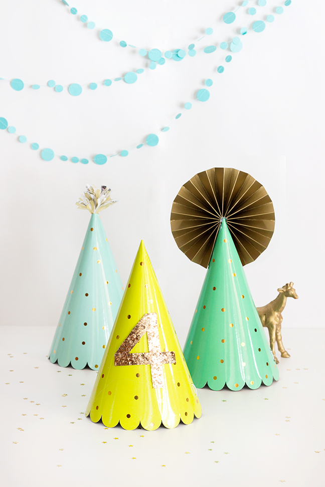 DIY Party Hat Upgrades by Splendid Supply Co. for Momtastic