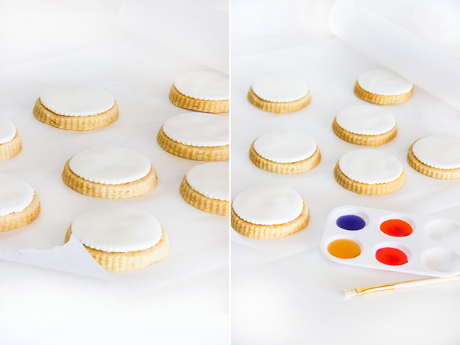DIY Watercolor Cookies by Maddy of Splendid Supply Co. for Momtastic.