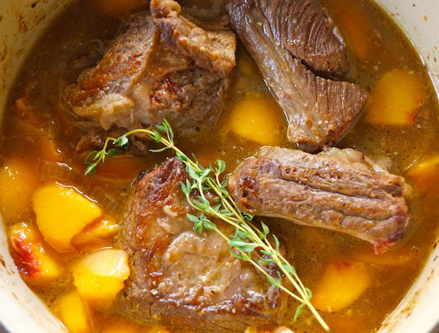 Peach Braised Short Ribs Recipe for 3 meals with 3 Delicious Side Options - Momtastic