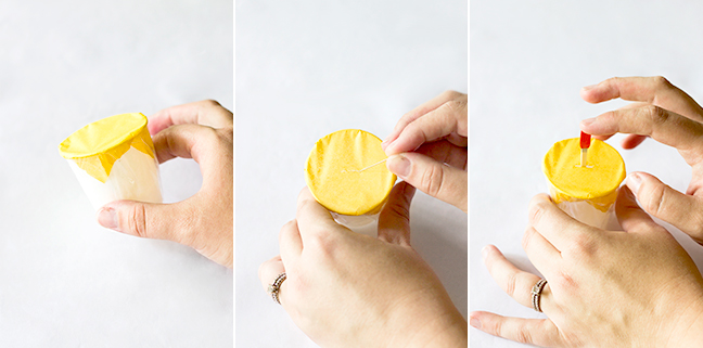 popsicle cups yellow paper