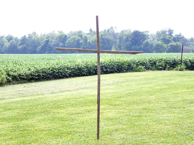 the frame used to build the scarecrow