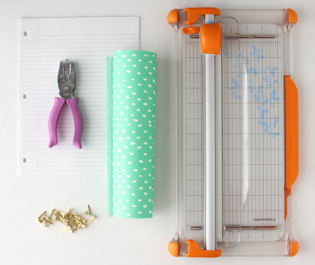 Supplies for Easy Kid-Friendly Notebook DIY