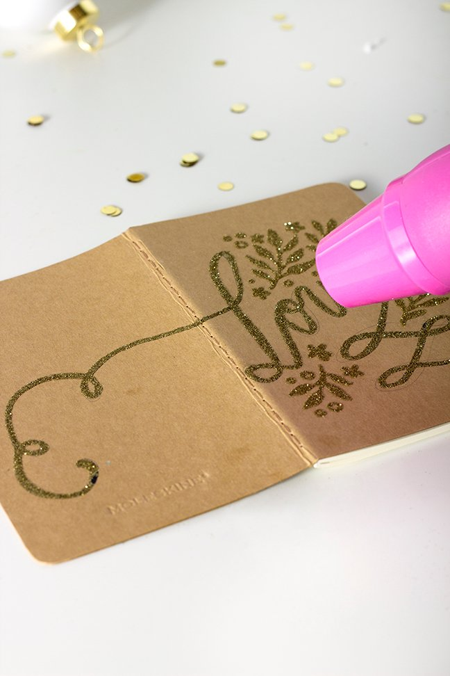 DIY Gold Embossed Calligraphy Notebooks