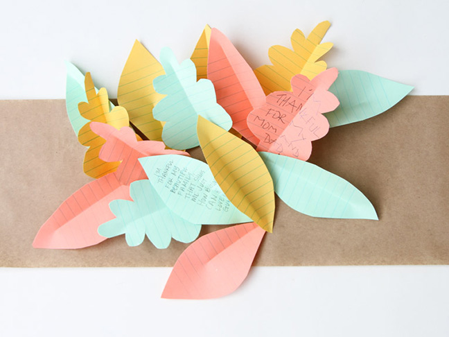 Leaves being added to table runner