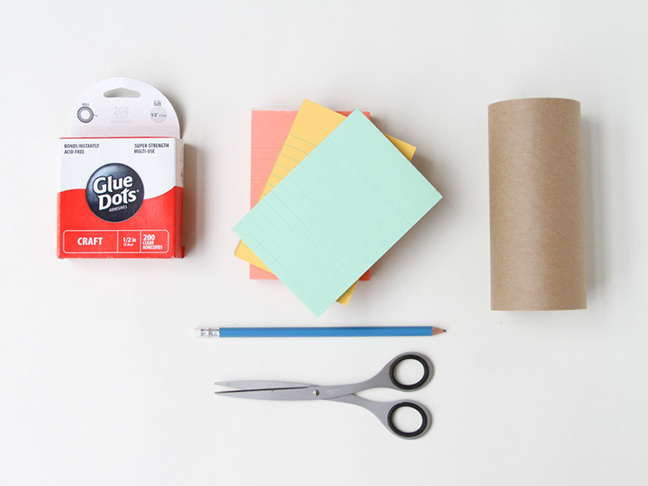 Supplies for paper Thanksgiving table runner DIY