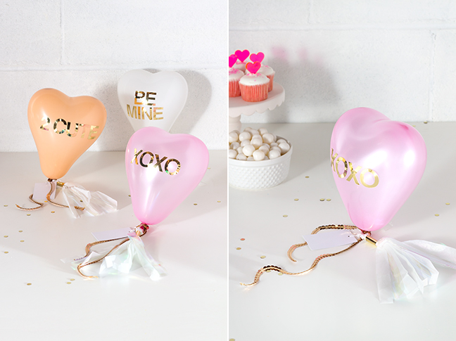 DIY Conversation Heart Balloon Valentines by Splendid Supply Co. for Momtastic.