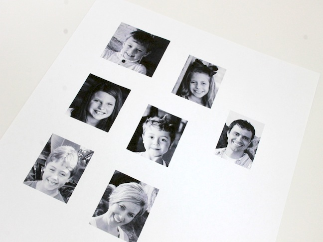 black and white photos of family to make easter egg craft