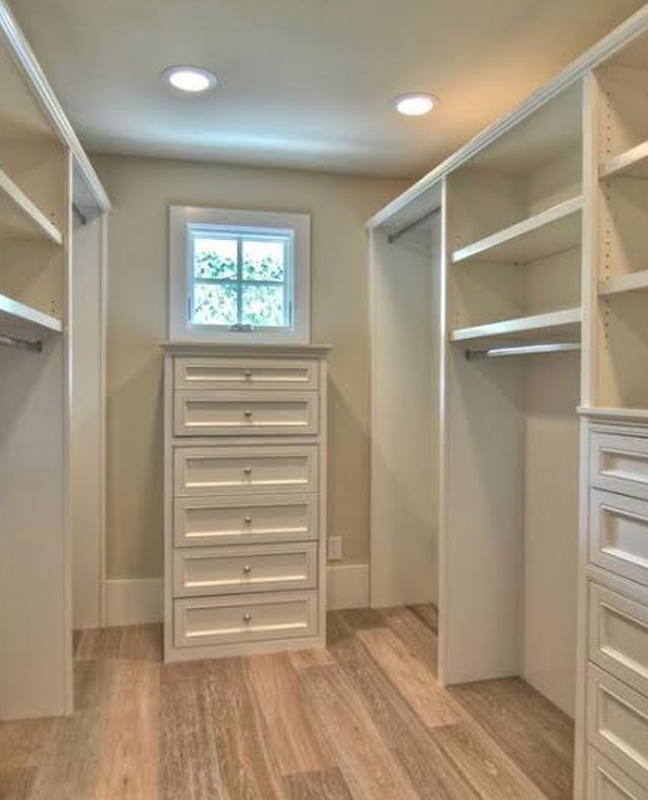 Completely empty and clean closet
