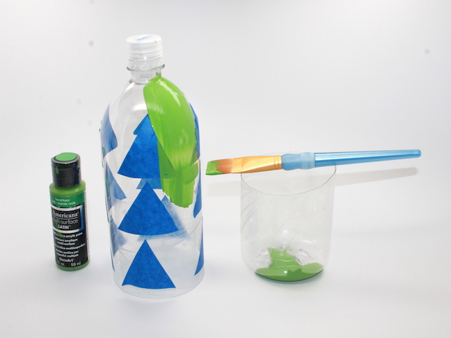 Step 3 - painting recycled water bottle