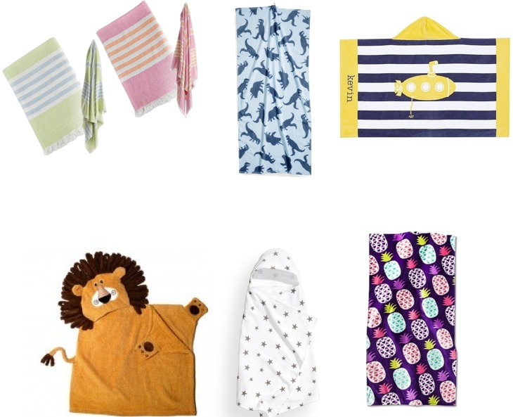 Towels that take you from bath time to the beach