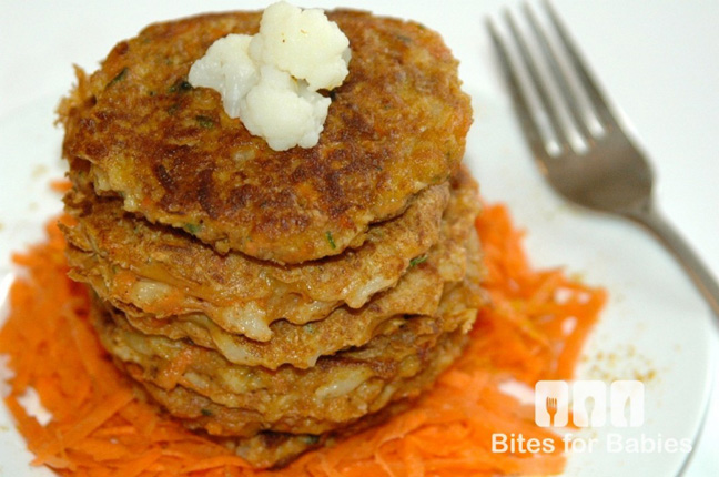 carrot fritters first foods for baby