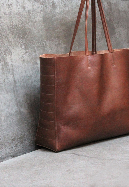 future glory leather brown oversized bag