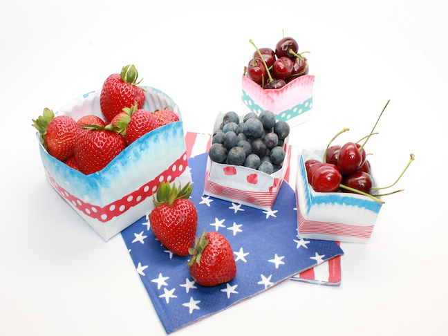 How to Make Fourth of July Paper Plate Bowls
