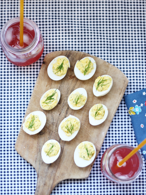 easy deviled eggs recipe with dill and ranch