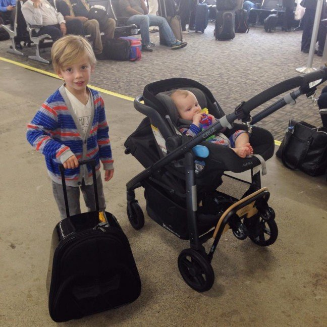 two kids airport