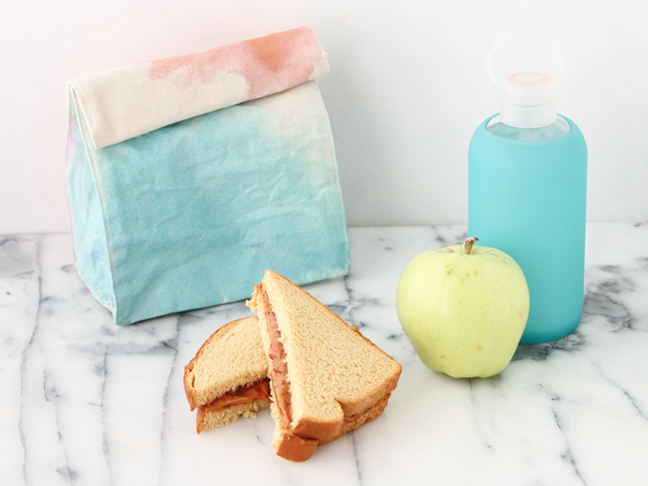 Make your own watercolor lunch bags for back to school