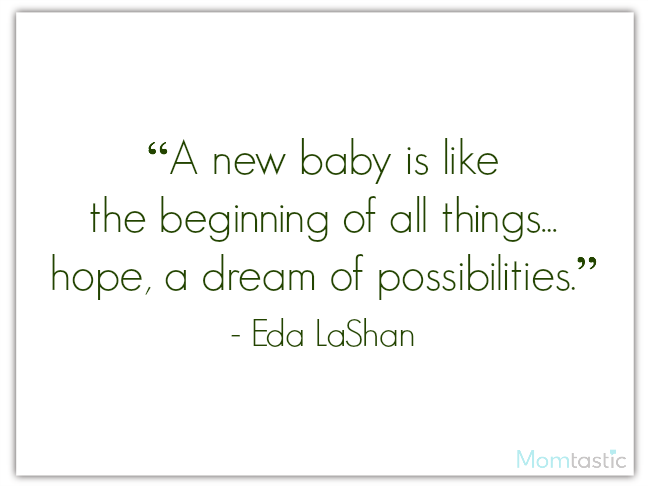 40 best quotes about babies featuring Eda LaShan on @ItsMomtastic