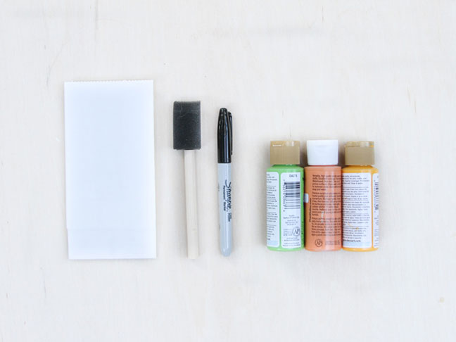 Supplies for DIY Halloween Party Favor and Candy Bags