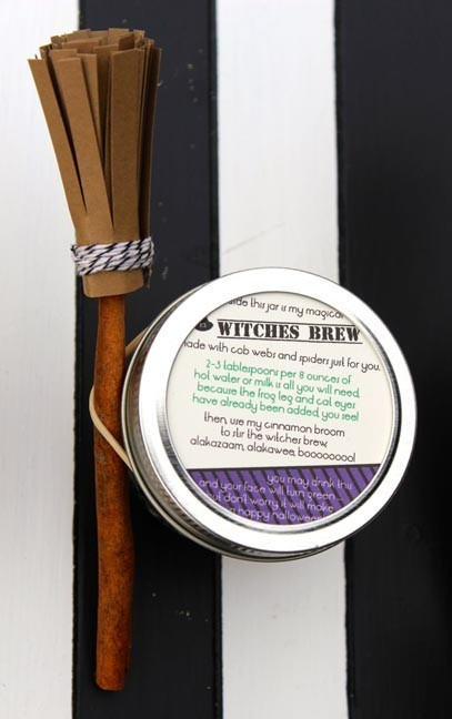 witches brew and cinnamon stick