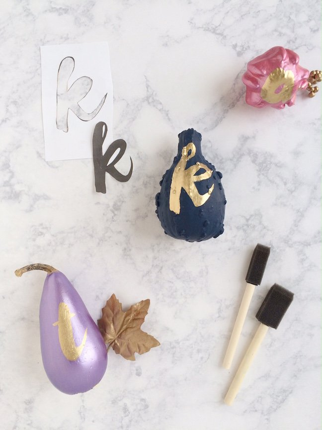 DIY Gold Typography Pumpkins for Thanksgiving | Shauna Younge