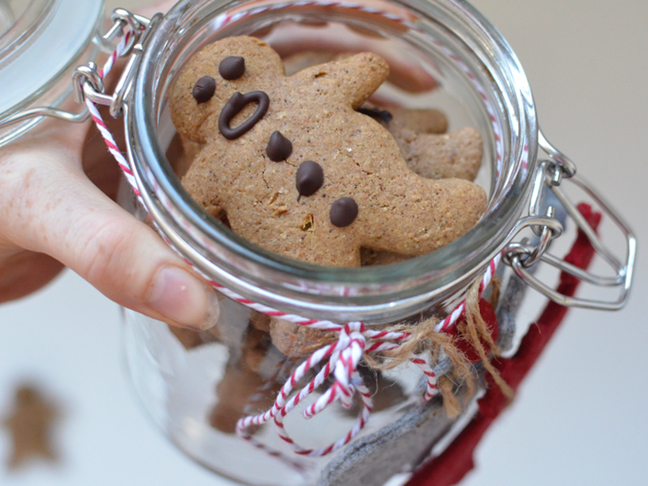 Healthy Wholemeal Gingerbread cookies