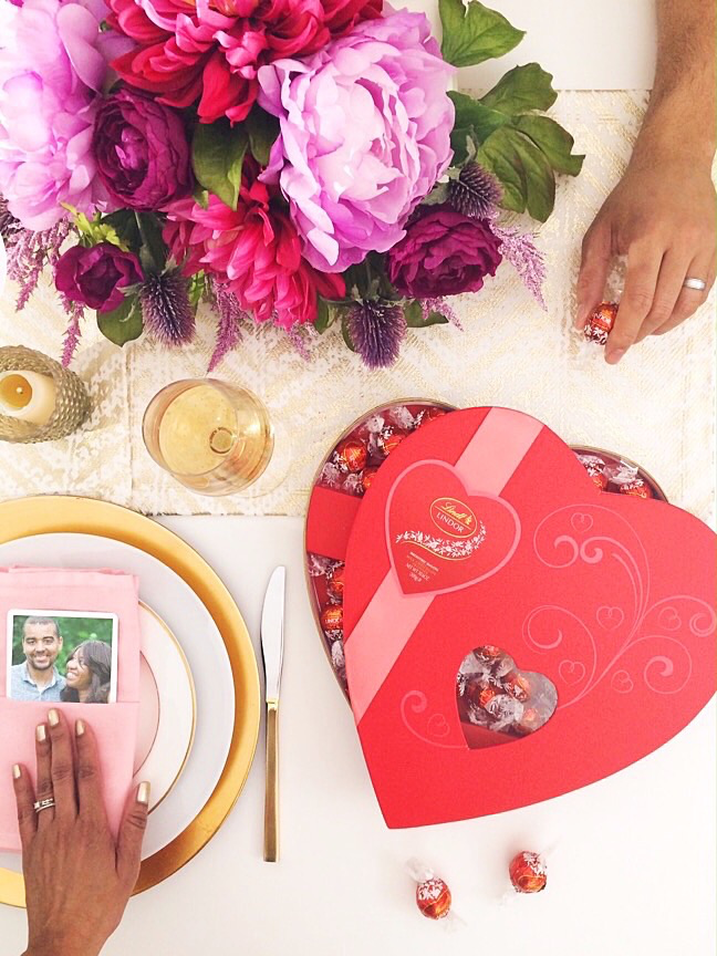 For a sweet date night   4 Ways to style LINDOR Truffles for Valentine's Gifts