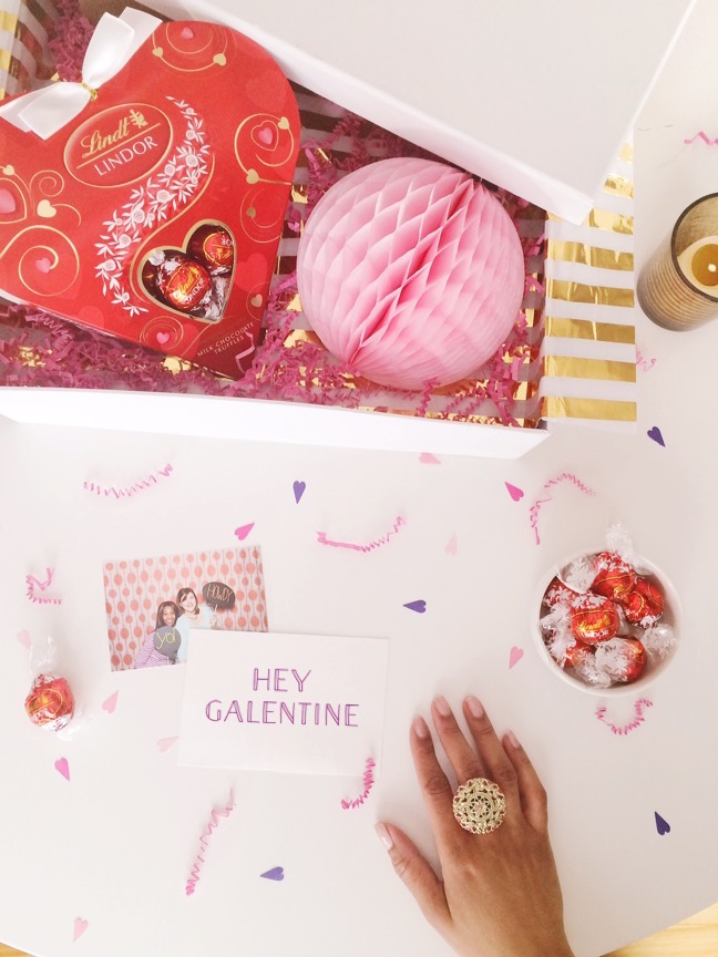 Be My Galentine!   4 Ways to style LINDOR Truffles for Valentine's Gifts   Shauna Younge for Momtastic
