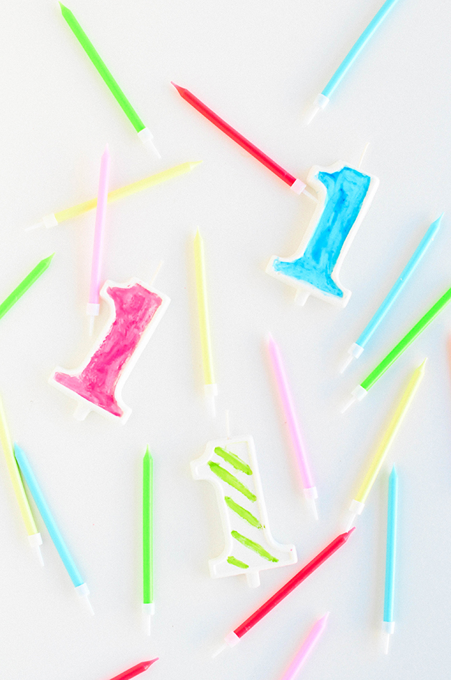 one birthday candles