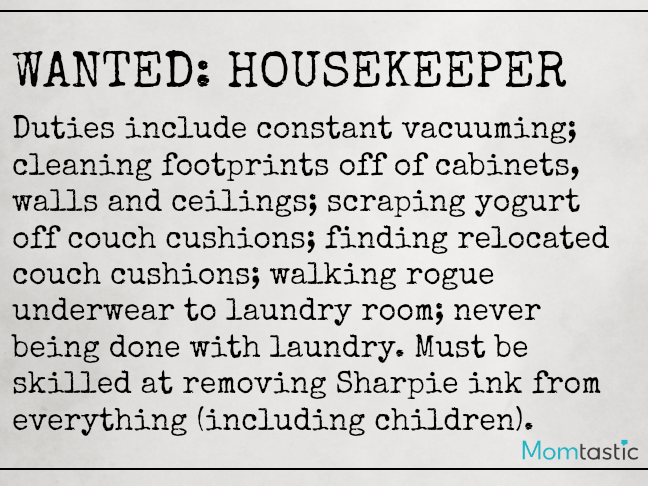 Want Ads Moms Would Love to Make on @ItsMomtastic by @letmestart   Housekeeper Wanted Funny Want Ads for parents and LOLs for moms