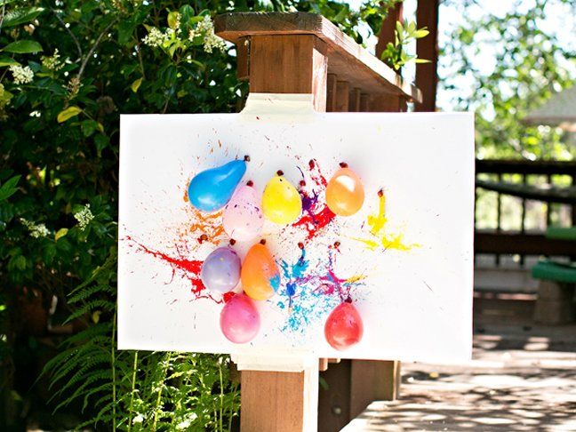 abstract art with balloons