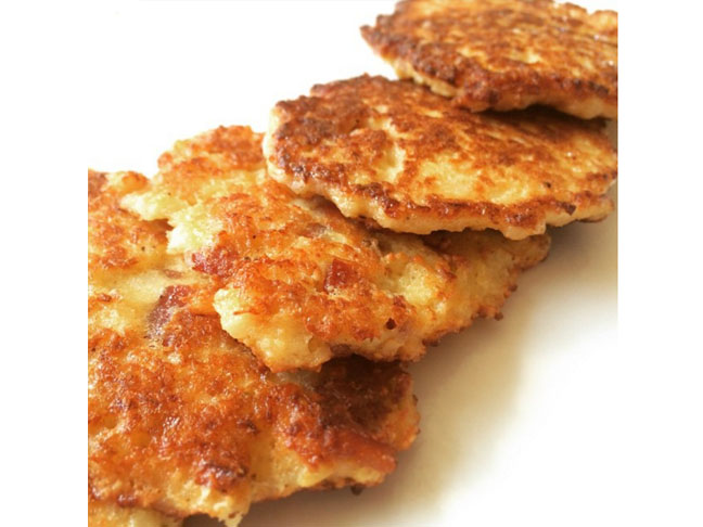 cauliflower and bacon fritters