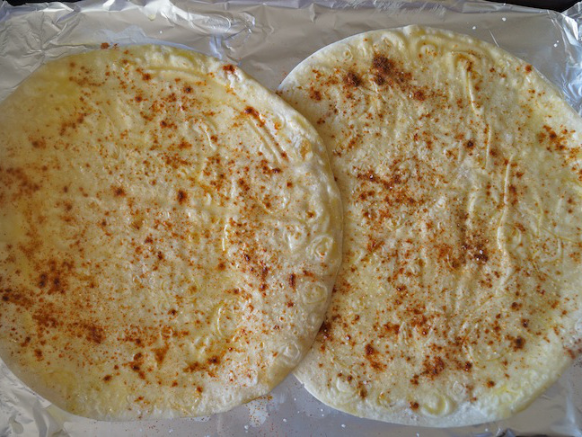 two tortillas with spices