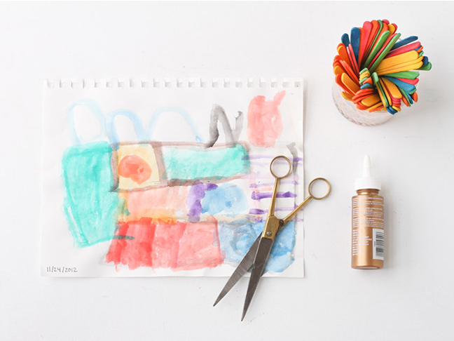 Supplies for DIY Popsicle Stick Picture Frames