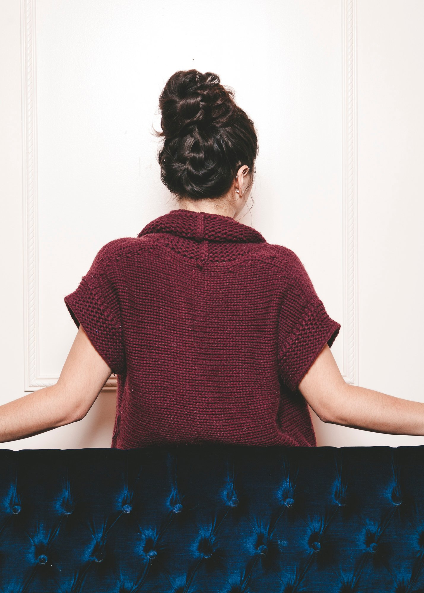 braided top knot back view