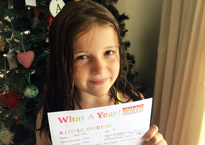 New Year Resolutions for Kids - reflection