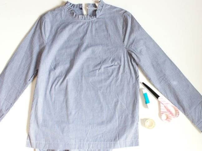blue-and-white-striped-shirt-scissors-tape